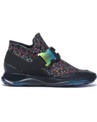 Christopher Kane - Leather-trimmed Floral-jacquard Sneakers - Lyst