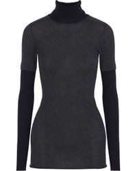 Enza Costa - Cotton And Cashmere-blend Jersey Turtleneck Top - Lyst