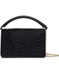 Diane von Furstenberg - Quilted Satin And Leather Shoulder Bag - Lyst
