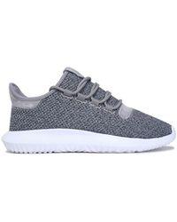 adidas Originals - Woman Stretch-knit Trainers Grey - Lyst