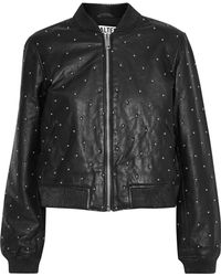 W118 by Walter Baker - Zena Studded Leather Jacket - Lyst