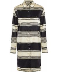 Stella McCartney - Poppy Snoozing Striped Silk-satin Nightshirt - Lyst