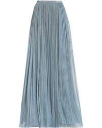 Jenny Packham - Plissé Tulle Maxi Skirt - Lyst