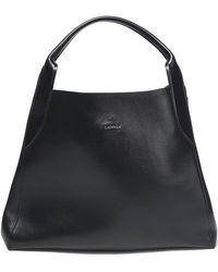 Lanvin - Woman Leather Tote Black Size -- - Lyst