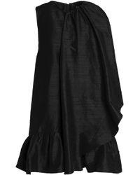 Paper London - Cape-effect Silk-shantung Mini Dress - Lyst