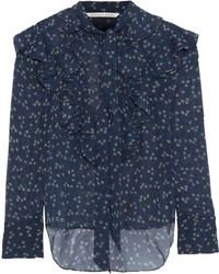 077bdd890a93d5 Veronica Beard - Woman Finley Tie-neck Ruffled Floral-print Silk-chiffon  Blouse