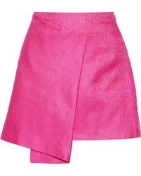 Maiyet - Wrap-effect Cotton And Silk-blend Mini Skirt - Lyst