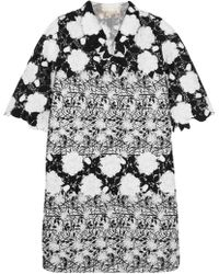 Giambattista Valli - Embroidered Tweed And Guipure Lace Jacket - Lyst