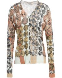 Roberto Cavalli Silk Cardigan Mint - Multicolour