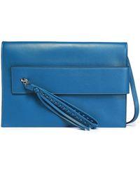 Elena Ghisellini - Tasselled Leather Shoulder Bag - Lyst