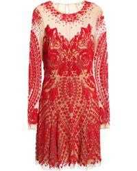Zuhair Murad - Beaded Tulle Mini Dress - Lyst