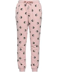 Zoe Karssen - Distressed Printed Cotton-blend Tapered Trousers - Lyst