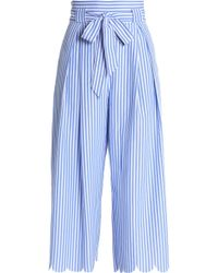 Raoul - Scalloped Striped Woven Culottes - Lyst