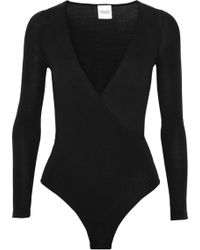 Madeleine Thompson - Petra Wrap-effect Wool And Cashmere-blend Bodysuit - Lyst