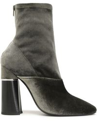 3.1 Phillip Lim - Kyoto Velvet Ankle Boots Army Green - Lyst