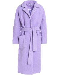 Ganni - Fenn Wool-blend Bouclé Coat - Lyst