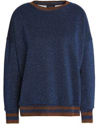 By Malene Birger - Metallic French Cotton-blend Terry Sweatshirt - Lyst