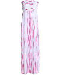 Heidi Klein - Shirred Tie-dye Jersey Maxi Dress - Lyst