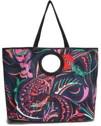 Emilio Pucci - Woman Printed Canvas Tote Multicolour - Lyst