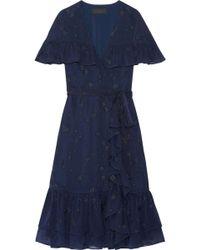 Co. - Ruffled Wrap-effect Fil Upé Silk-chiffon Dress - Lyst