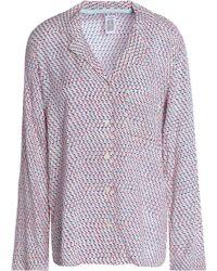 Calvin Klein - Printed Jersey Pajama Shirt - Lyst