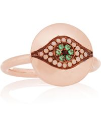 Iam By Ileana Makri - Little Dawn Rose Gold-plated Cubic Zirconia Ring - Lyst