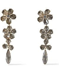 Kate Spade - Woman Gold-tone Crystal Earrings Gold - Lyst