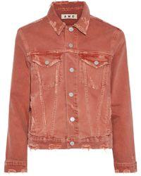 AMO - Pop Distressed Printed Denim Jacket - Lyst
