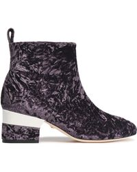 Isa Tapia | Crushed Velvet Ankle Boots | Lyst