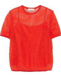 Mansur Gavriel - Layered Open-knit Top - Lyst