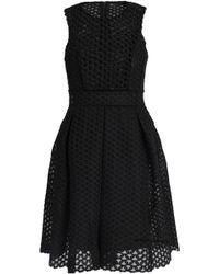Maje - Velvet-trimmed Guipure Lace Mini Dress - Lyst