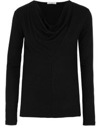 James Perse - Panelled Jersey Top - Lyst