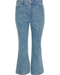 Sandy Liang - Winkle High-rise Kick-flare Jeans - Lyst