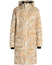 Ganni - Printed Quilted Shell Hooded Coat - Lyst