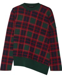 Cedric Charlier - Plaid Wool Sweater - Lyst