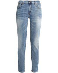 Roberto Cavalli - Faded High-rise Slim-leg Jeans - Lyst