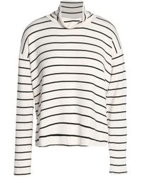 Splendid - Striped Stretch-modal Turtleneck Top - Lyst
