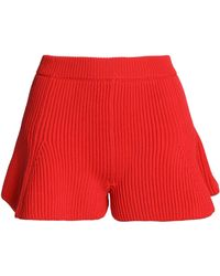 MM6 by Maison Martin Margiela - Fluted Ribbed-knit Shorts - Lyst