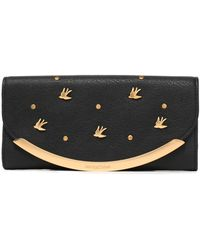 See By Chloé - Embellished Textured-leather Continental Wallet - Lyst