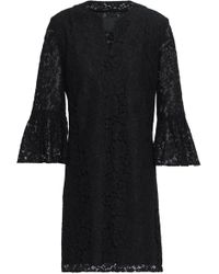 Anna Sui - Fluted Corded Lace Mini Dress - Lyst