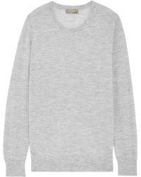 N.Peal Cashmere - Cashmere Jumper Light Grey - Lyst