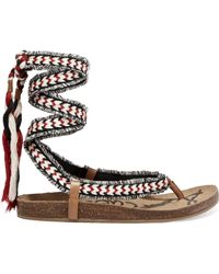 Sam Edelman - Kelby Tasselled Woven Sandals - Lyst