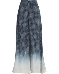 Stella McCartney - Dégradé Silk Wide-leg Trousers - Lyst