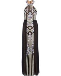 Marchesa notte - Bead And Sequin-embellished Pleated Tulle Gown - Lyst