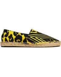 Maje - Embroidered Printed Canvas Espadrilles - Lyst