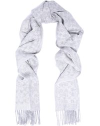 COACH - Fringed Jacquard-knit Wool And Cashmere-blend Scarf - Lyst