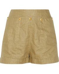 Twenty8Twelve - Nico Waxed-linen Shorts - Lyst
