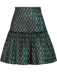 Dolce & Gabbana - Gathered Metallic Jacquard Mini Skirt - Lyst