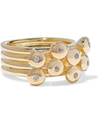 Elizabeth and James - Woman Gold-tone Crystal Ring Gold - Lyst