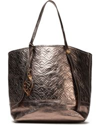 See By Chloé - Bisou Quilted Metallic Textured-leather Tote - Lyst